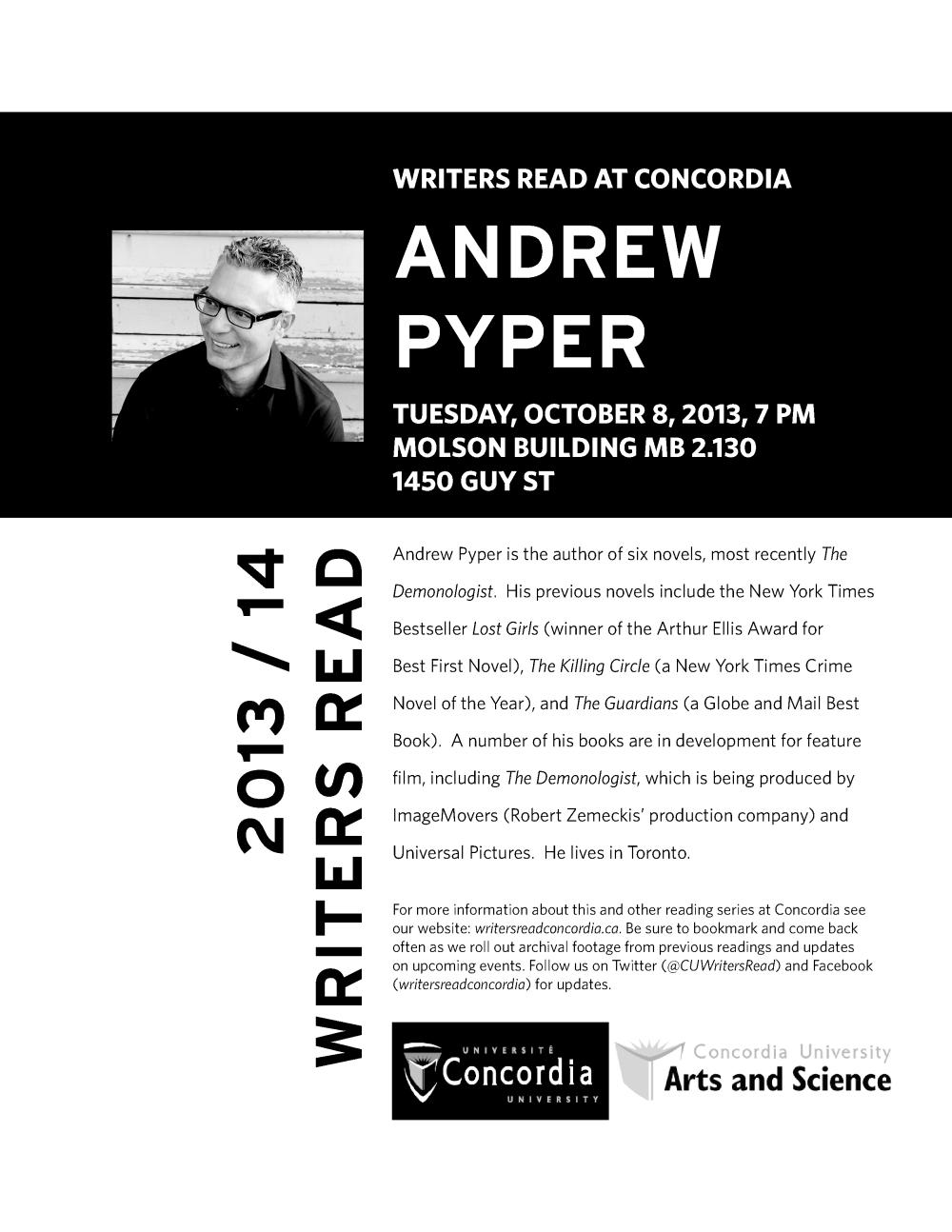 Andrew Pyper Poster