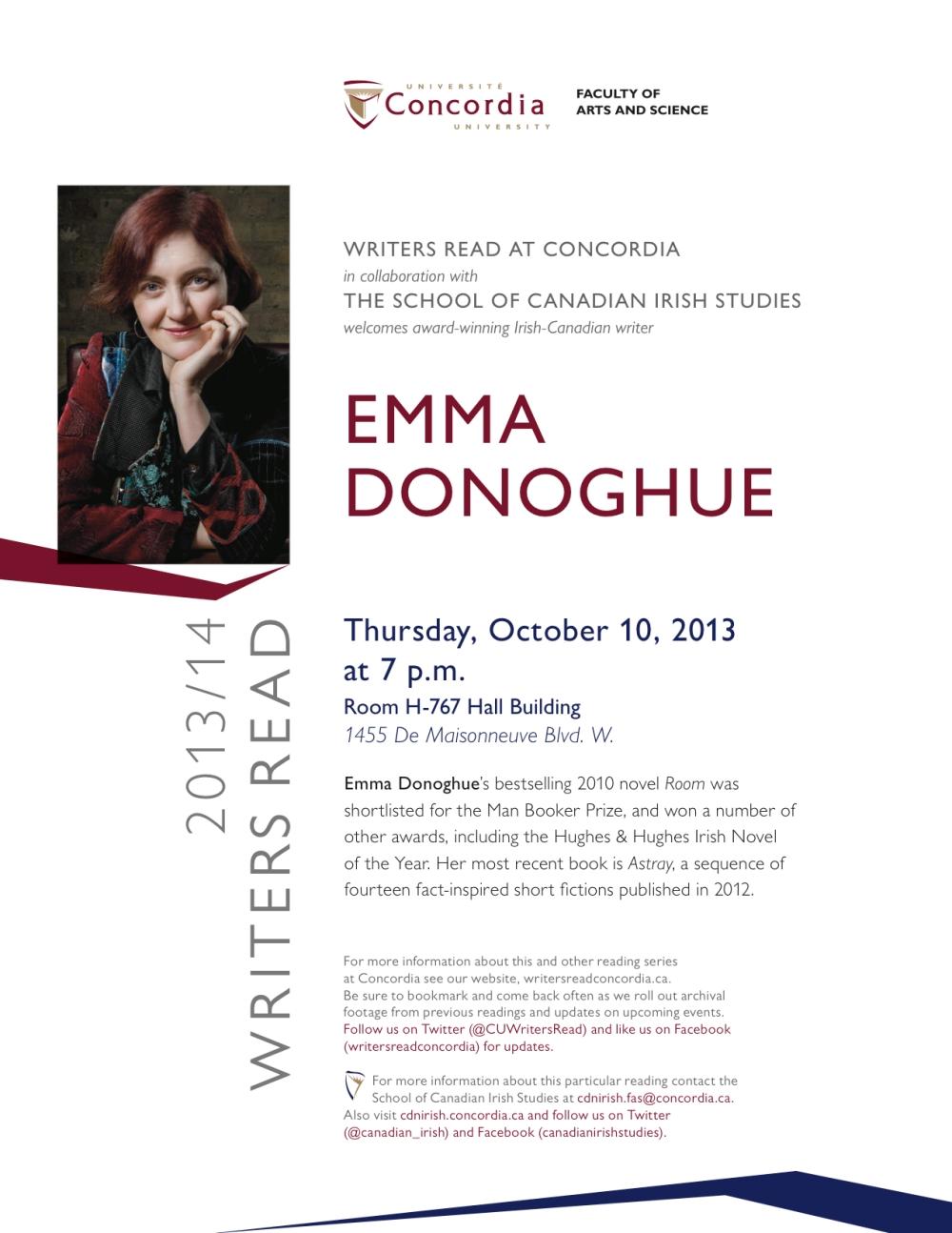 Emma Donoghue poster