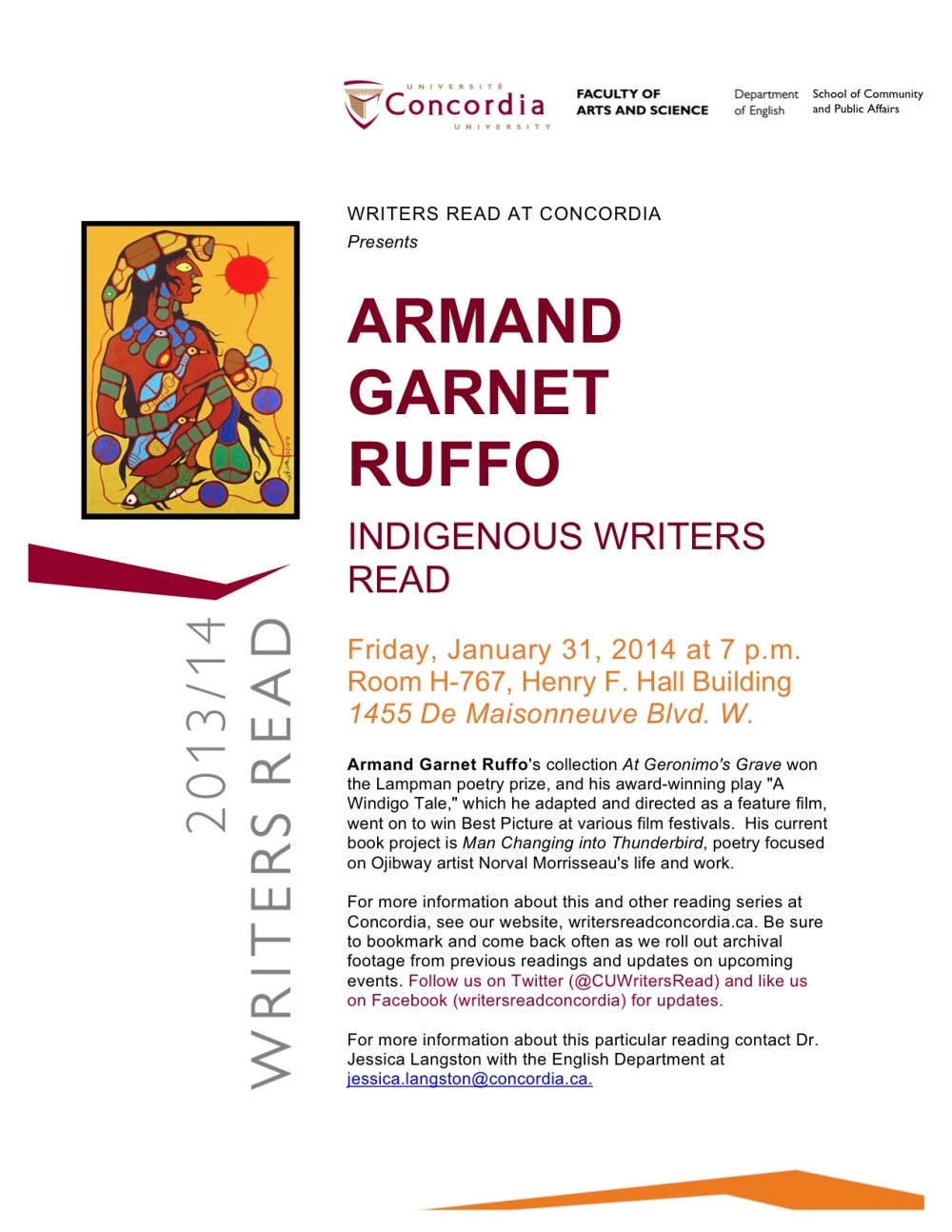 Armand Ruffo Poster revised