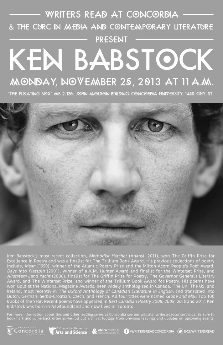 Ken Babstock Poster