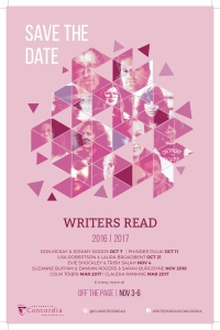 Writers Read Save the Date
